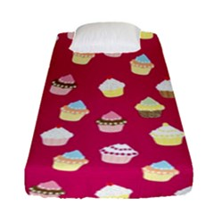 Cupcakes pattern Fitted Sheet (Single Size)