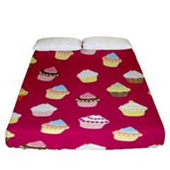 Cupcakes pattern Fitted Sheet (King Size)
