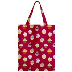 Cupcakes pattern Zipper Classic Tote Bag