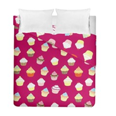 Cupcakes pattern Duvet Cover Double Side (Full/ Double Size)