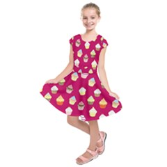 Cupcakes pattern Kids  Short Sleeve Dress