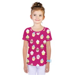 Cupcakes pattern Kids  One Piece Tee