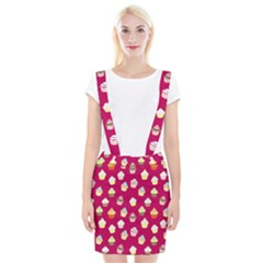 Cupcakes pattern Suspender Skirt