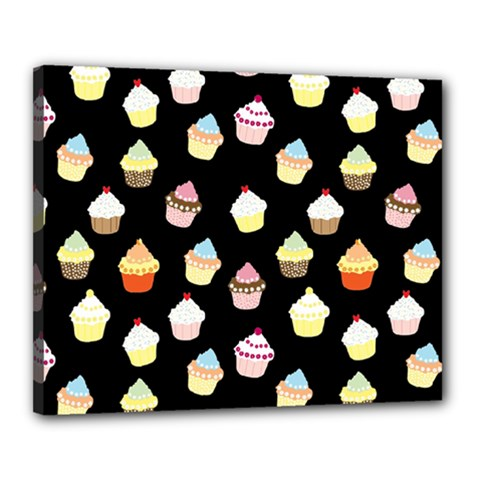 Cupcakes pattern Canvas 20  x 16