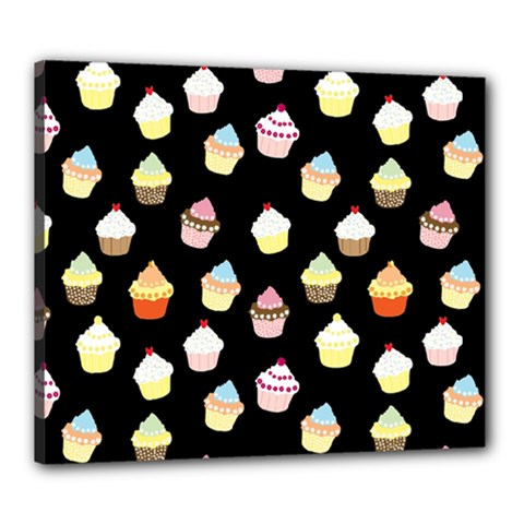 Cupcakes pattern Canvas 24  x 20