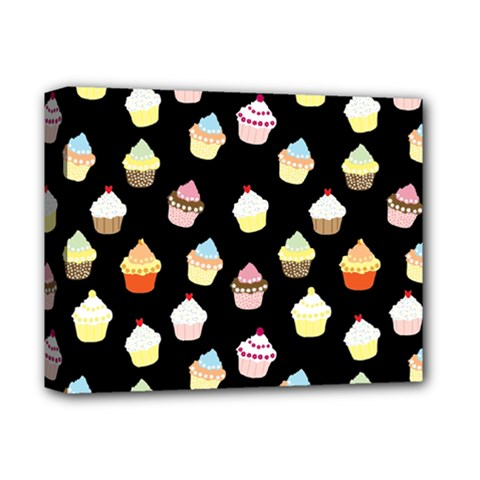 Cupcakes pattern Deluxe Canvas 14  x 11