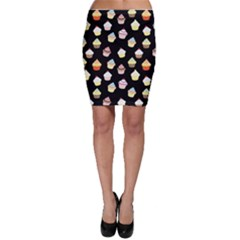 Cupcakes pattern Bodycon Skirt