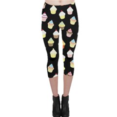 Cupcakes pattern Capri Leggings