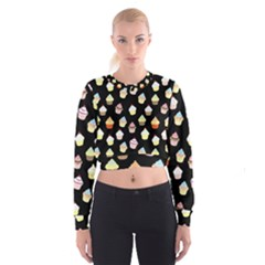 Cupcakes pattern Cropped Sweatshirt