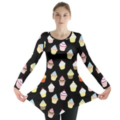Cupcakes pattern Long Sleeve Tunic