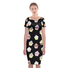 Cupcakes pattern Classic Short Sleeve Midi Dress