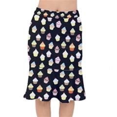 Cupcakes pattern Mermaid Skirt