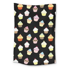 Cupcakes pattern Large Tapestry