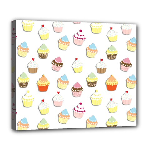 Cupcakes pattern Deluxe Canvas 24  x 20