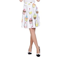 Cupcakes pattern A-Line Skirt