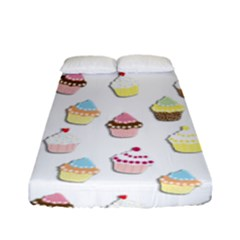 Cupcakes pattern Fitted Sheet (Full/ Double Size)