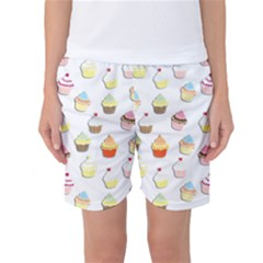 Cupcakes pattern Women s Basketball Shorts