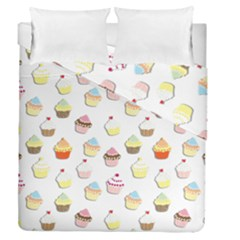 Cupcakes pattern Duvet Cover Double Side (Queen Size)