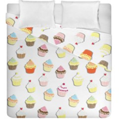 Cupcakes pattern Duvet Cover Double Side (King Size)