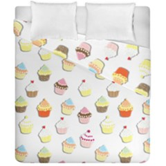 Cupcakes pattern Duvet Cover Double Side (California King Size)