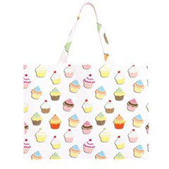 Cupcakes pattern Large Tote Bag