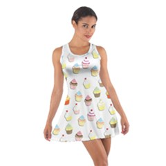 Cupcakes pattern Cotton Racerback Dress