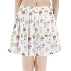 Cupcakes pattern Pleated Mini Skirt