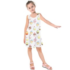 Cupcakes pattern Kids  Sleeveless Dress