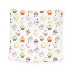 Cupcakes pattern Square Tapestry (Small)