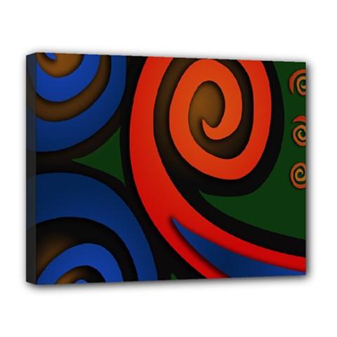 Simple Batik Patterns Canvas 14  x 11