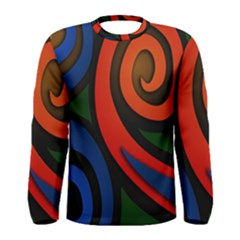Simple Batik Patterns Men s Long Sleeve Tee