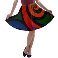 Simple Batik Patterns A Line Skater Skirt