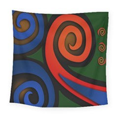 Simple Batik Patterns Square Tapestry (large)