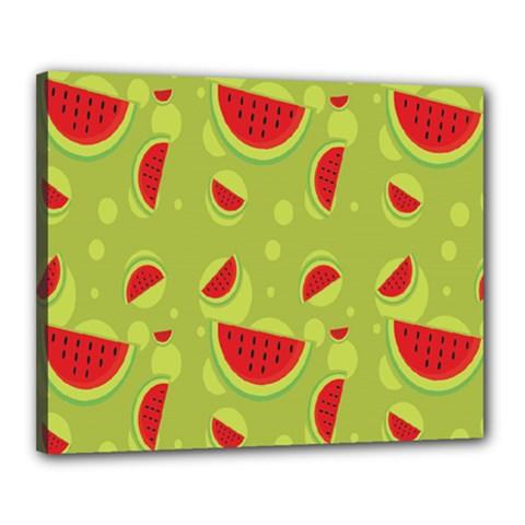 Watermelon Fruit Patterns Canvas 20  x 16