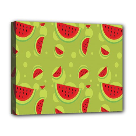 Watermelon Fruit Patterns Deluxe Canvas 20  x 16