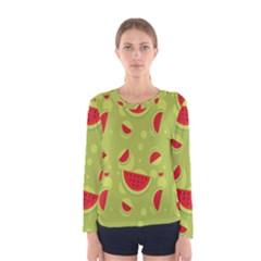 Watermelon Fruit Patterns Women s Long Sleeve Tee