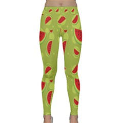 Watermelon Fruit Patterns Classic Yoga Leggings