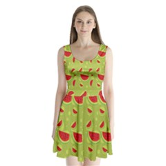 Watermelon Fruit Patterns Split Back Mini Dress