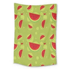 Watermelon Fruit Patterns Large Tapestry