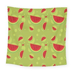 Watermelon Fruit Patterns Square Tapestry (Large)