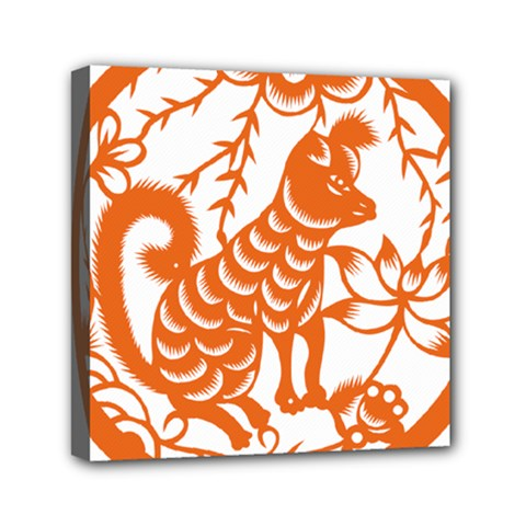 Chinese Zodiac Dog Mini Canvas 6  X 6