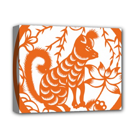Chinese Zodiac Dog Deluxe Canvas 14  x 11