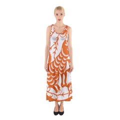 Chinese Zodiac Dog Sleeveless Maxi Dress