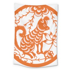 Chinese Zodiac Dog Large Tapestry