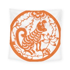 Chinese Zodiac Dog Square Tapestry (small)