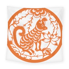 Chinese Zodiac Dog Square Tapestry (Large)