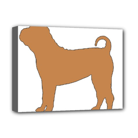 Chinese Shar Pei Silo Color Deluxe Canvas 16  x 12