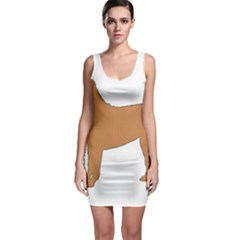 Chinese Shar Pei Silo Color Sleeveless Bodycon Dress