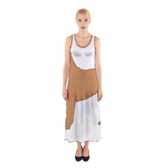 Chinese Shar Pei Silo Color Sleeveless Maxi Dress
