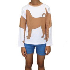 Chinese Shar Pei Silo Color Kids  Long Sleeve Swimwear